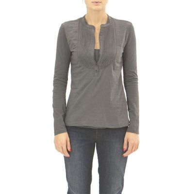 Long sleeved wide-neck T-shirt