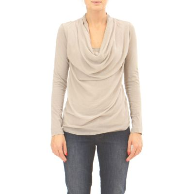 Long Sleeve Cowl-neck T-shirt