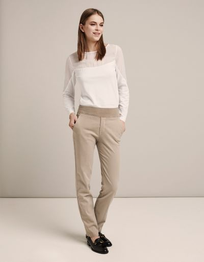 Trousers With Jersey Waist-Band