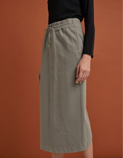 Long Skirt With Front Boxer Waistband
