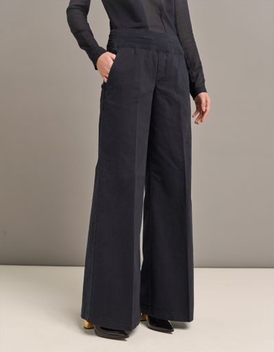 Palazzo Pants With Confort Waistband And Tailored Details