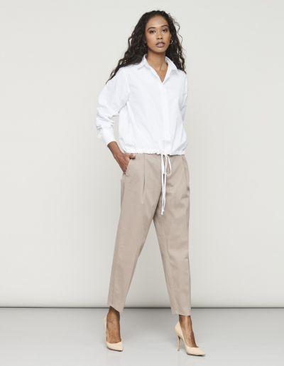 High-rise trousers with pinces