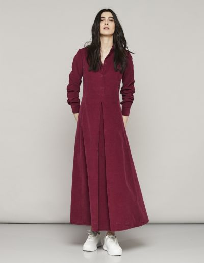 Velvet Long Dress With Side Split