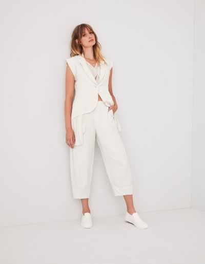 pantaloni casual cropped